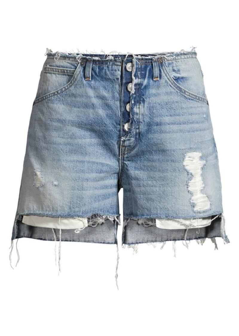 Hudson Jeans Sloane Relaxed Distressed Denim Shorts