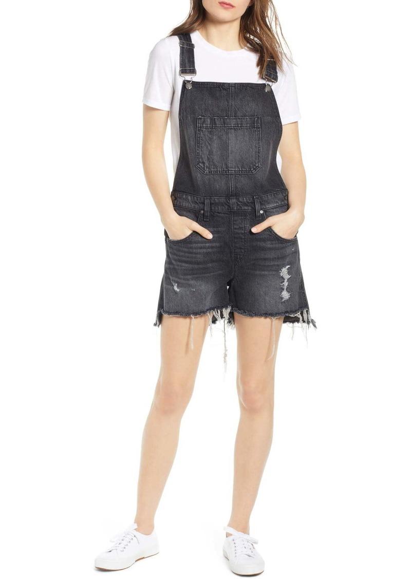 Hudson Jeans Sloane Ripped Short Overalls