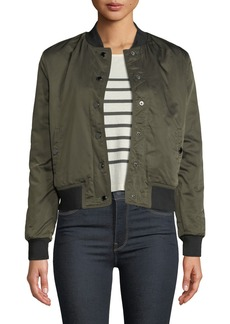 Hudson Jeans Snap-Front Bomber Jacket