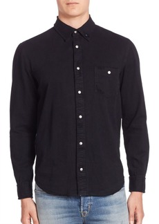 Hudson Jeans Solid Long Sleeve Shirt