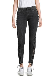 Stevie Lace-Up Skinny Jeans