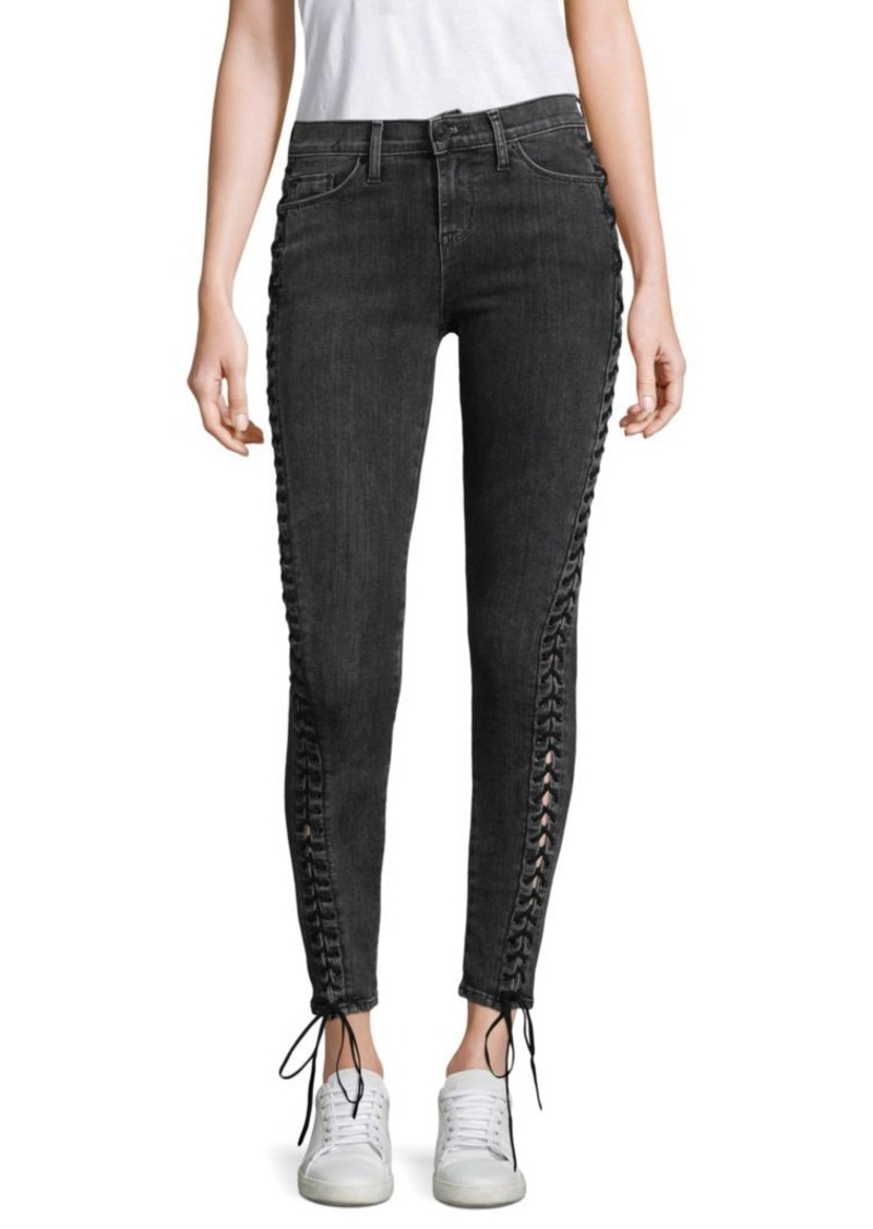 Hudson Jeans Stevie Lace-Up Skinny Jeans