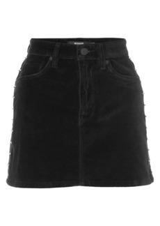 Hudson Jeans Studded Velvet Mini Skirt