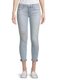 Hudson Jeans Super Skinny Cropped Jeans