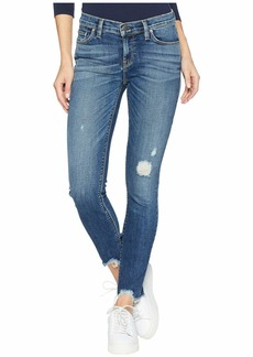 Hudson Jeans Tally Mid-Rise Crop Skinny Jeans in Side Bar