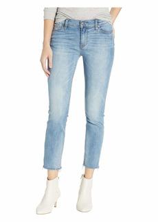Hudson Jeans Tally Mid-Rise Skinny Crop in Radical (Raw Hem)