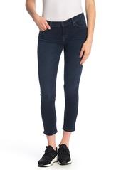 Hudson Jeans Tally Mid Rise Skinny Frayed Hem Jeans