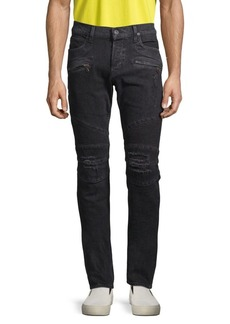Hudson Jeans The Blinder Distressed Biker Jeans