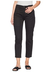 Hudson Jeans The Leverage High-Rise Ankle Cargo in Black