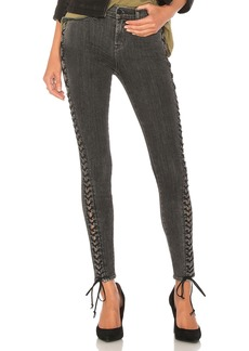 The Stevie Midrise Lace Up Skinny