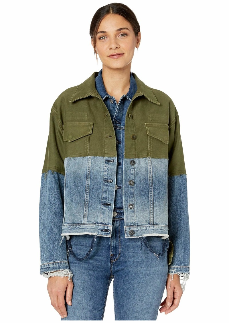 Hudson Jeans Twill Denim Combo Jacket in Turnabout