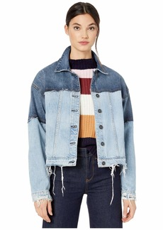 Hudson Jeans Two-Tone High-Low Jacket in Naïve