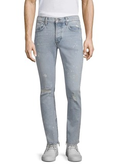 Hudson Jeans Vaughn Skinny Cotton Ankle Zip Jeans