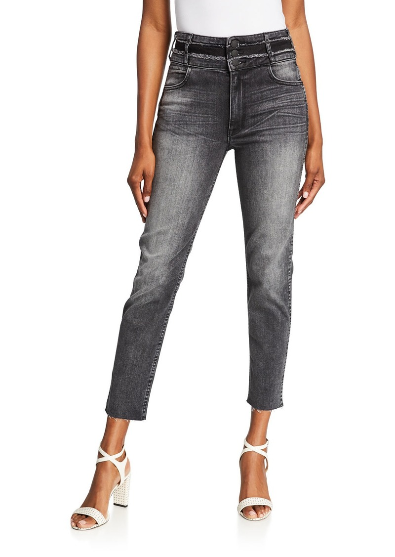 Hudson Jeans Vintage Holly Raw-Edge Cropped Skinny Jeans