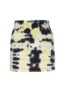 Hudson Jeans Viper Tie-Dye Mini Skirt