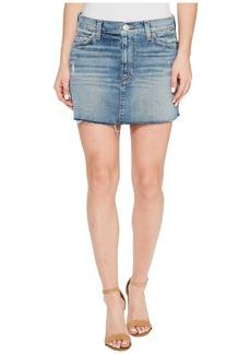 Hudson Jeans Vivid Denim Mini Skirt w/ Raw Hem in Sunday Girl