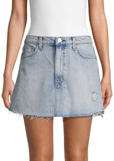 Hudson Jeans Vivid Distressed Denim Mini Skirt