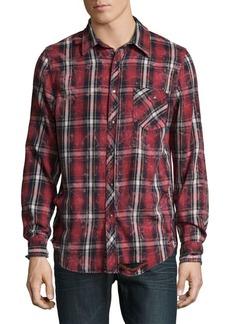 Hudson Jeans Western Plaid Cotton Shirt
