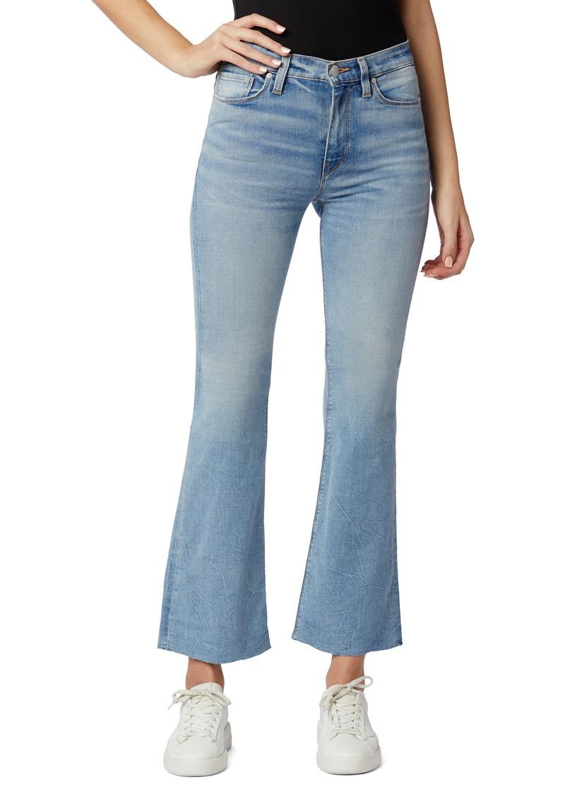Women's Hudson Jeans Barbara High Waist Raw Hem Crop Bootcut Jeans