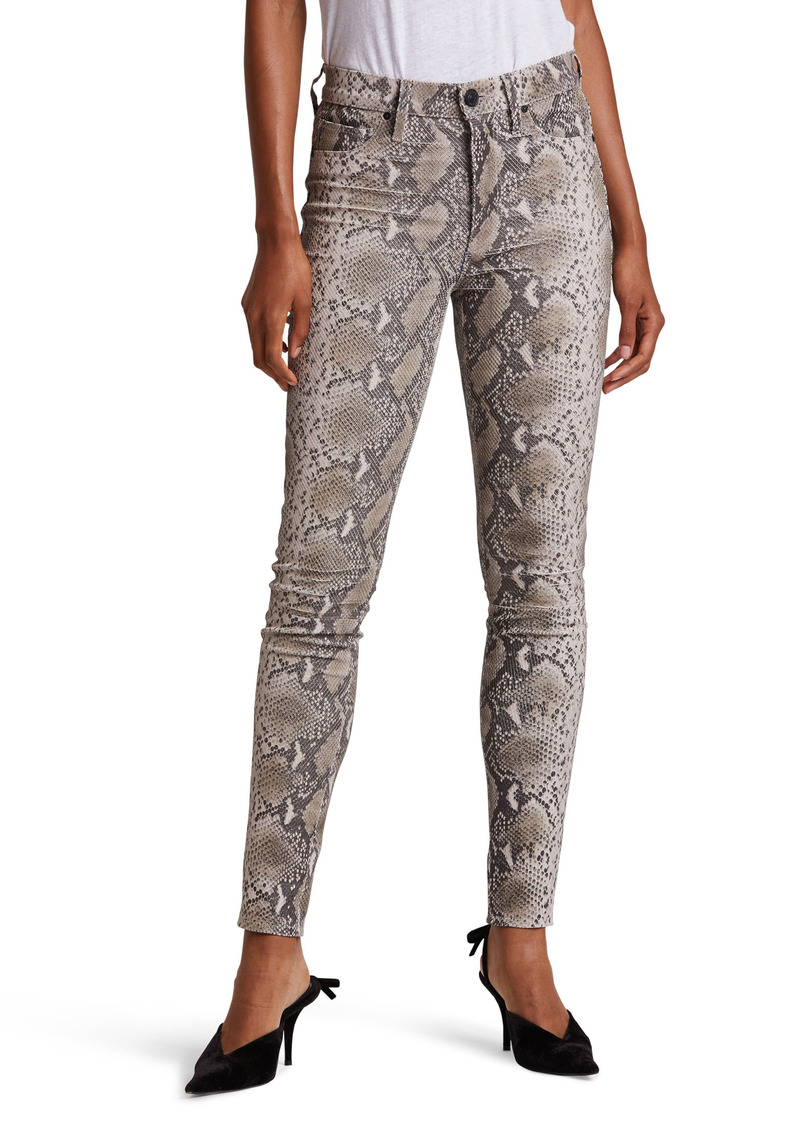Women's Hudson Jeans Barbara Python Embossed Leather High Waist Ankle Super Skinny Pants