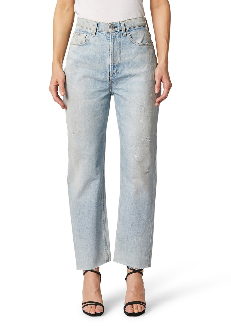 Women's Hudson Jeans Elly High Waist Distressed Tapered Crop Jeans