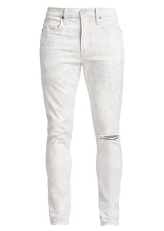 Hudson Jeans Zack Acid Wash Distressed Skinny Jeans