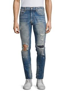 Hudson Jeans Zack Cracked Skinny Jeans