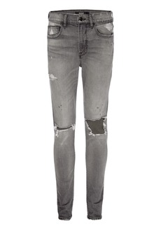 Hudson Jeans Zack Mid-Rise Distressed Skinny Jeans