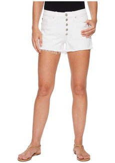 Hudson Jeans Zoeey High-Rise Button Cut Off Shorts in White
