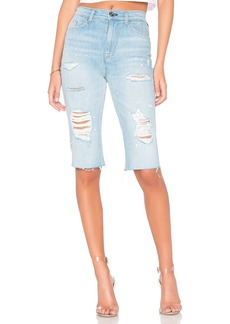 Zoeey High Rise Cut Off Boyfriend Short