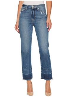 Hudson Jeans Zoeey High-Rise Straight + Released Hem in Far Away