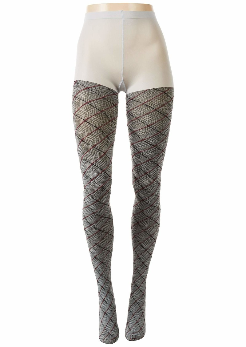 Hue Bias Glen Plaid Tights with Control Top