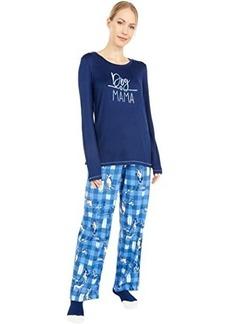 Hue Dog Mama Knit PJ Set with Socks
