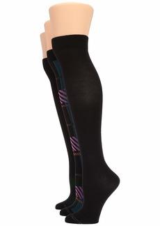 Hue Graduated Compression Knee Socks 3-Pair Pack