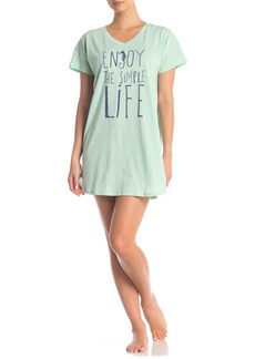 Hue Graphic Print V-Neck Sleep Shirt