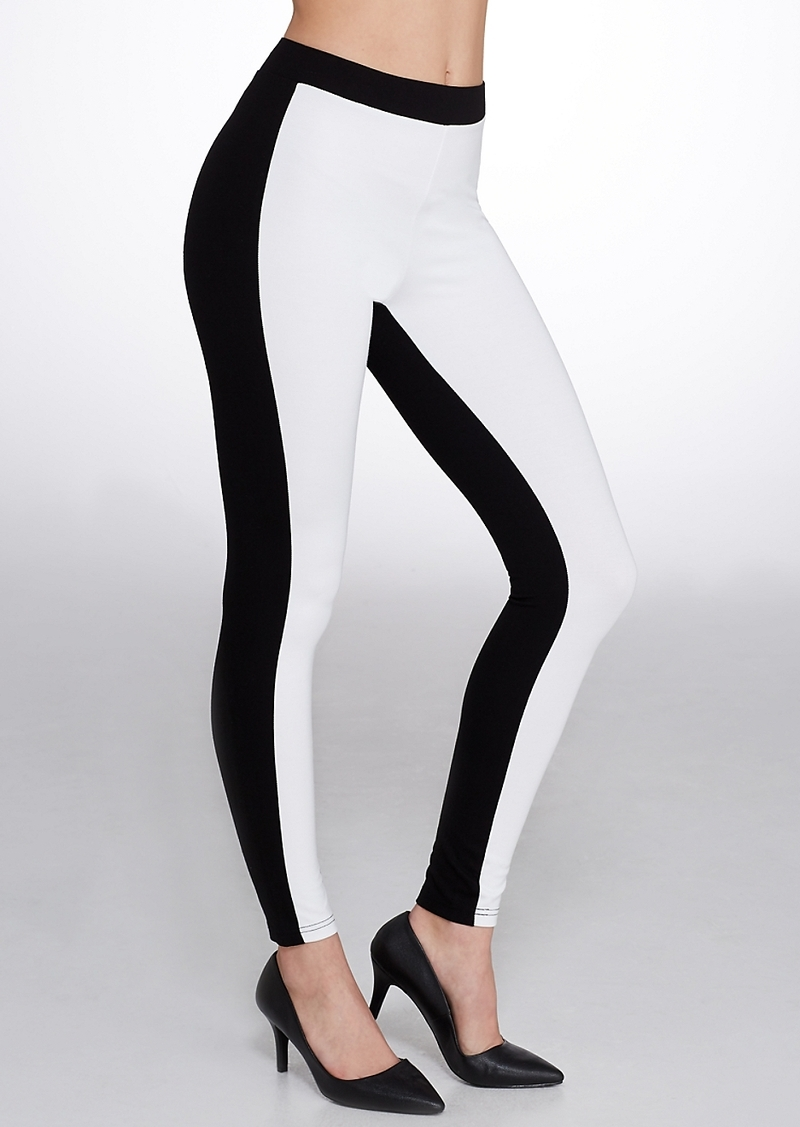 HUE + Color Block Illusion Ponte Knit Leggings