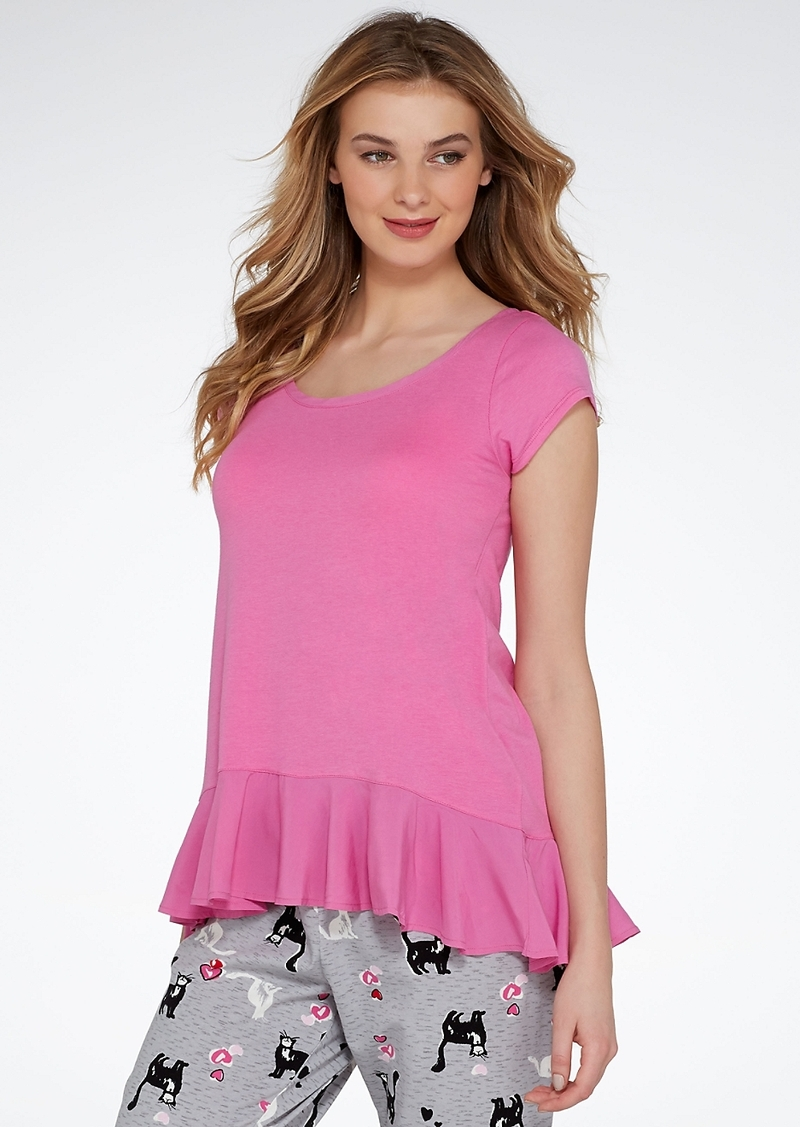 HUE + Flounce Knit Sleep Top