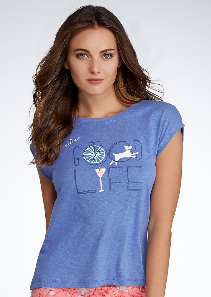 HUE + Good Life Knit Sleep Tee