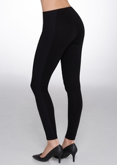 HUE + High-Waist Illusion Ponte Knit Leggings