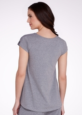 HUE + Knit Sleep Top with Lace Trim