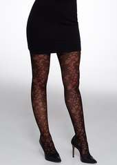 HUE + Open Floral Control Top Tights