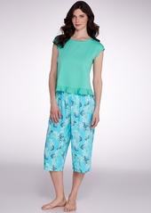 HUE + Pineapple Luau Woven Culotte Pajama Pants