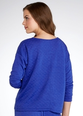 HUE + Quilted Knit Sleep Top
