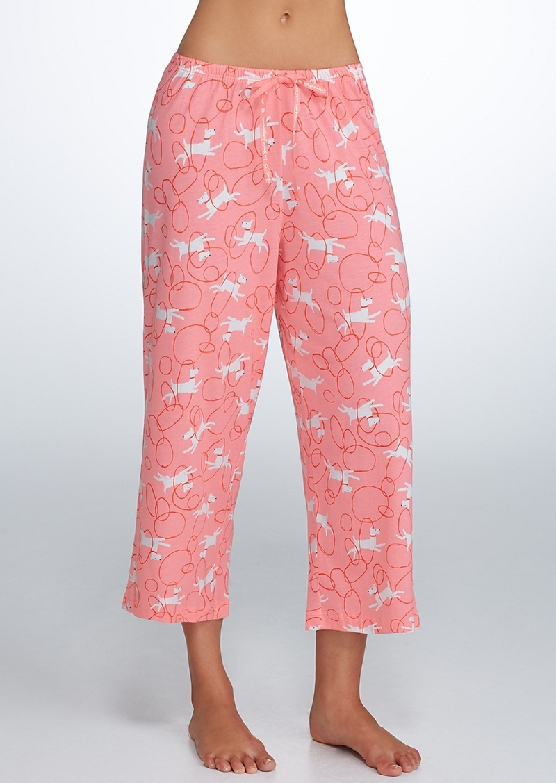 HUE + Through Hoops Knit Capri Pajama Pants