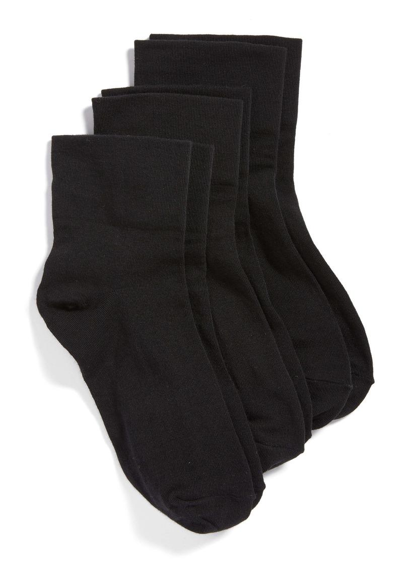 Hue 3-Pack Cotton Blend Crew Socks