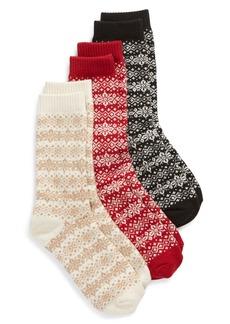Hue 3-Pack Fair Isle Boot Socks