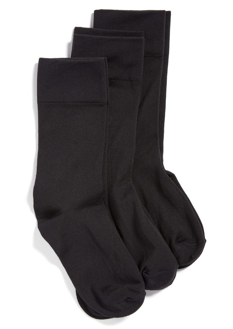 Hue 3-Pack Ultrasmooth Crew Socks