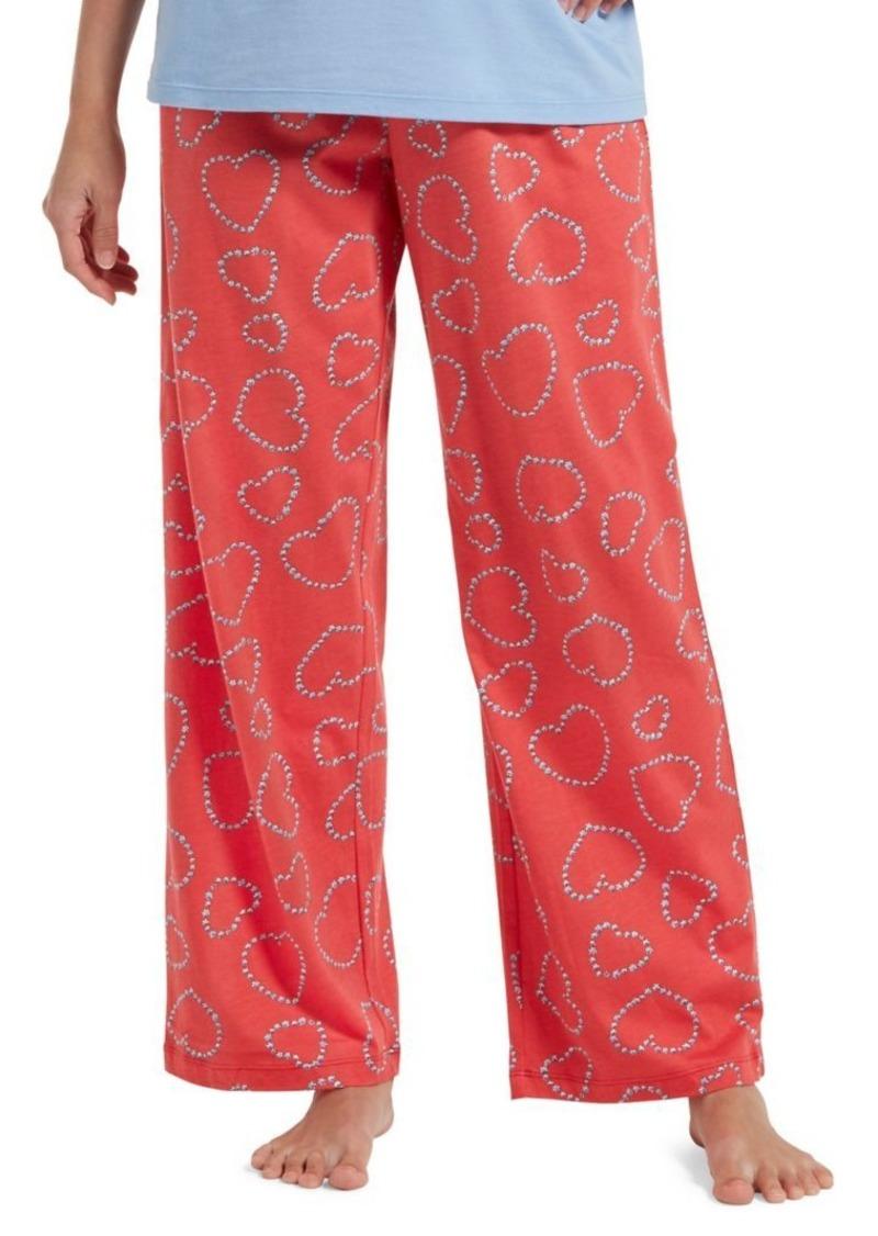 Hue Bitsy Flower Heart Cotton-Blend Pajama Pants