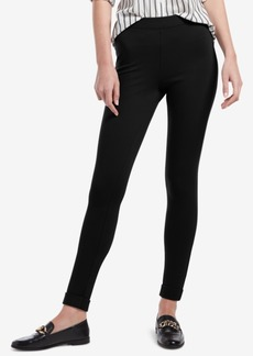 Hue Brushed Fleece-Lined Ponte-Knit Leggings