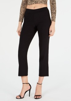 Hue Crochet-Hem Loafer Skimmer Leggings